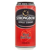 Nápoj Ciders Apple Strongbow Red Berries 440 ml plechovka