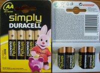 Batéria Duracell Simply AA LR06 4 ks