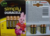 Batéria Duracell Simply AAA LR03 4 ks