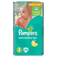 Pampers active baby-dry 3 (5 - 9 kg) 68 ks