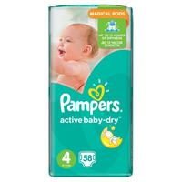 Pampers active baby-dry 4 (8 - 14 kg) 58 ks