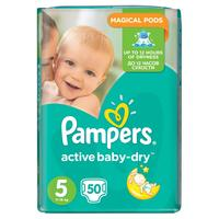 Pampers active baby-dry 5 (11 - 18 kg) 50 ks