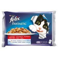 Felix Fantastic želé hovädzie + kuracie 4 x 100 g