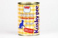 Kúsky pre mačky s kuracinou COOP 415 g