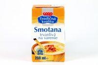 Smotana trvanlivá na varenie 10 % COOP 250 ml