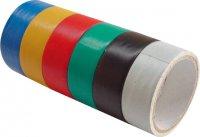 Páska lepiaca izolačná 6-dielna sada 18 mm x 3 m