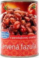Červená fazuľa v paradajkovej omáčke COOP 400 g