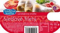 Sleďové filety v paradajkovej omáčke COOP 170 g