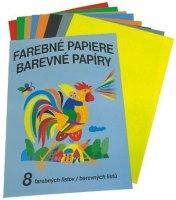 Farebný papier 8 zložiek
