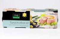 Tuniak v olivovom oleji COOP 3 x 80 g