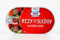 Rezy zo sleďov v paradajkovej omáčke 170 g