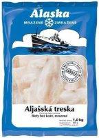 Aljašská treska filety hlbokomrazená 1 kg