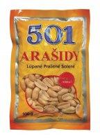 Arašidy 501 pražené solené 100 g