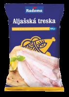 Aljašská treska filety bez kože hlbokomrazené 400 g