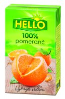 Hello 100 % pomaranč 250 ml