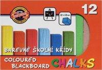 Krieda školská farebná 12 ks