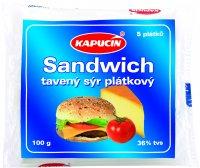 Kapucín sandwich tavený syr plátkový 100 g