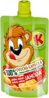Kubík 100 % ovocná kapsička jahoda 100 g