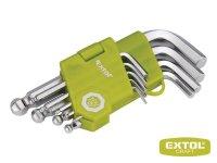 L-kľúče imbusove krátke 9 ks, s guľôčkou