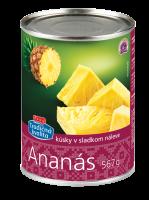 Ananás kúsky v sladkom náleve COOP 567 g