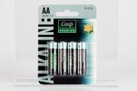 Batérie alkalické LR6 AA COOP 4 ks