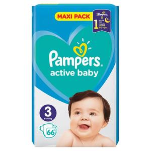 Pampers active baby 3 (6-10 kg) 66 ks