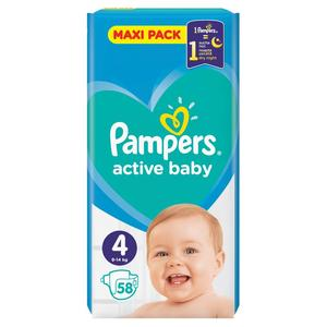 Pampers active baby 4 (9-14 kg) 58 ks