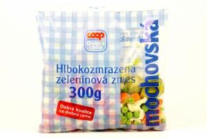 Hlbokozmrazená zeleninová zmes mochovovská COOP 400 g