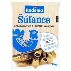 Šúľance zemiakové plnené makom hlbokozmrazené 525 g