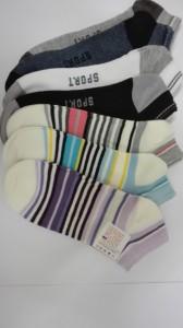 Ponožky členkové v. 23 - 31, vzorované