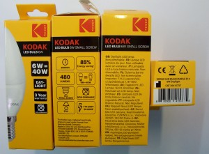 Žiarivka Kodak LED Candle 6W E14 Daylight