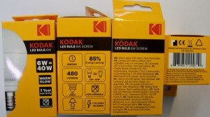 Žiarivka Kodak LED Golf 6W E27 Warm Glow